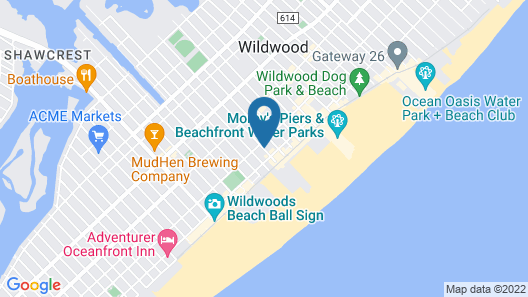 Tropicana Motel Map