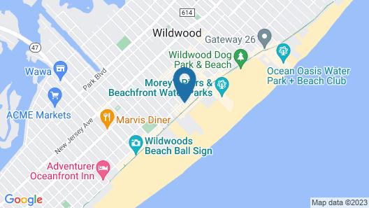 AA Heart of Wildwood Motels Map
