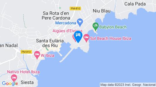 Aguas de Ibiza Grand Luxe Hotel Map