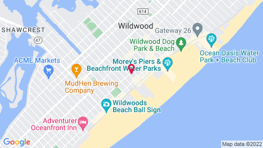 The Waves Hotel, Ascend Hotel Collection Map