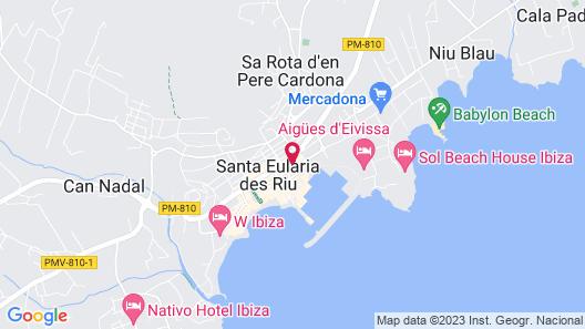Invisa Hotel La Cala Map