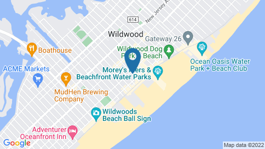 Key West Motel Map