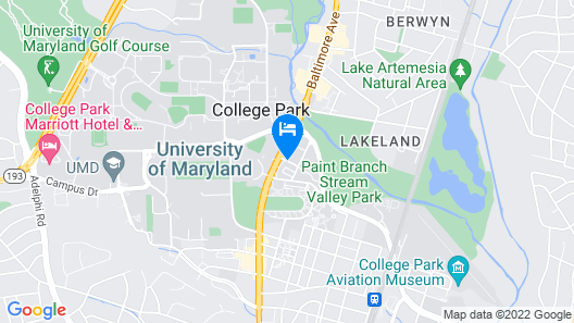 The Hotel at the University of Maryland Map