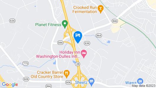 Hampton Inn & Suites Washington-Dulles International Airport Map