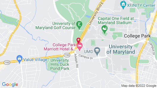 College Park Marriott Hotel & Conference Center Map