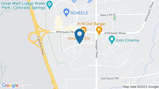 Hampton Inn & Suites Colorado Springs/Air Force Academy Map