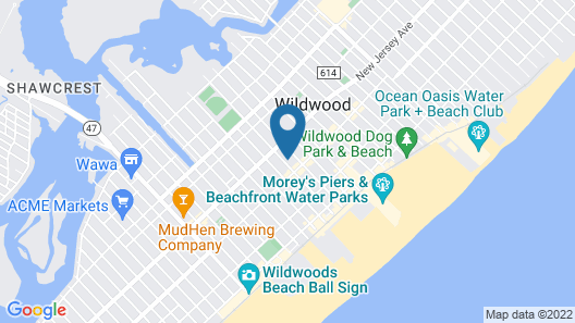 Holly Beach Hotel Map
