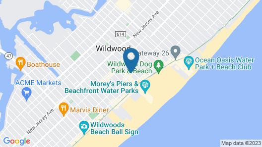 Beach Terrace Motor Inn Map
