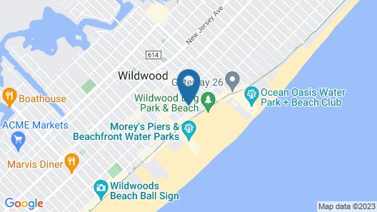 Quarterdeck Motel Map