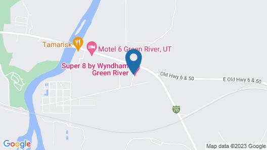 Super 8 by Wyndham Green River Map