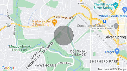 Updated DC House by Metro, Walk to Rock Creek Park Map
