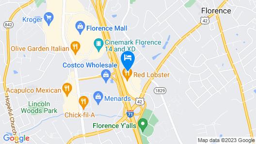 Rodeway Inn Florence - Cincinnati South Map