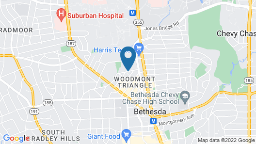 Global Luxury Suites Bethesda Chevy Chase Map