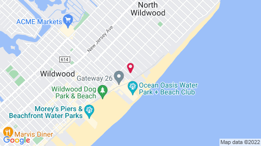 Quality Inn Boardwalk Wildwood Oceanfront Map