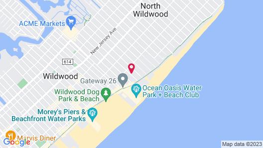 Hammock Inn & Suites Boardwalk Wildwood Oceanfront Beach Hotel Map