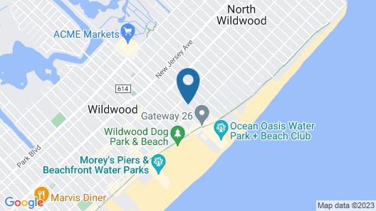 White Caps Motel Map