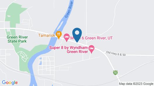 Americas Best Value Inn Green River Map