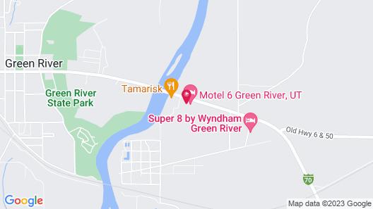 Motel 6 Green River, UT Map