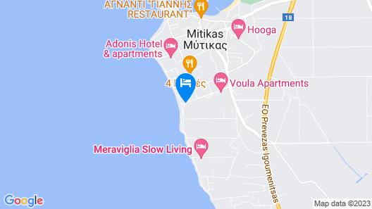 Iliovasilema Hotel Map