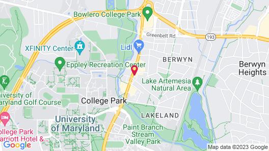 Cambria Hotel College Park Map