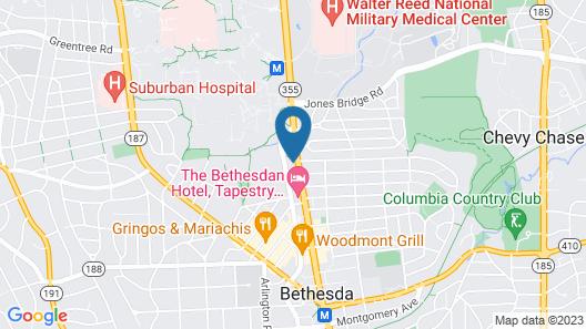 Bluebird Suites near Bethesda Metro Map