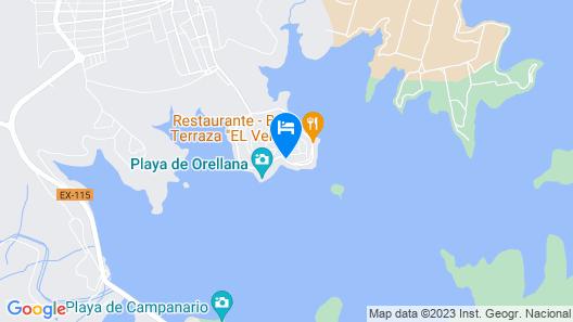 Camping Balcon de Orellana Map