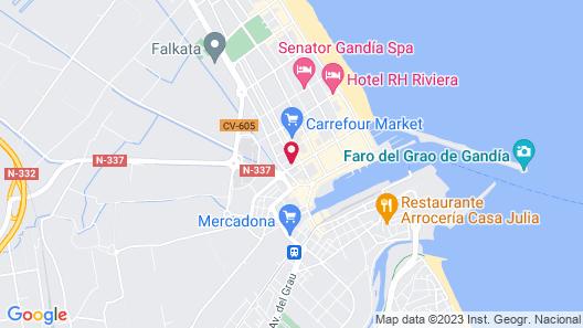 Apartamentos Gandia Playa 3000 Map