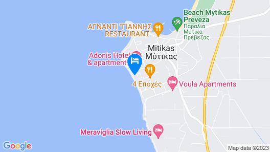 Oikia Eleanthi - Beachfront Garden Home Map
