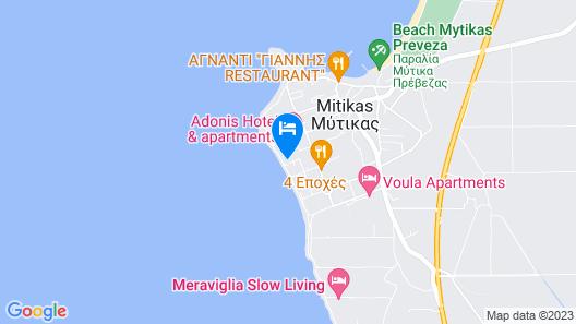 Villa Moby Dick Preveza Map