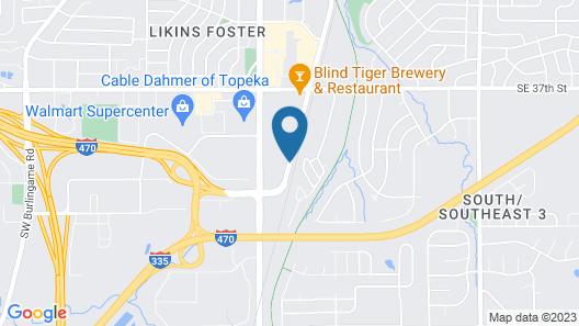 Travelers Inn Topeka Map