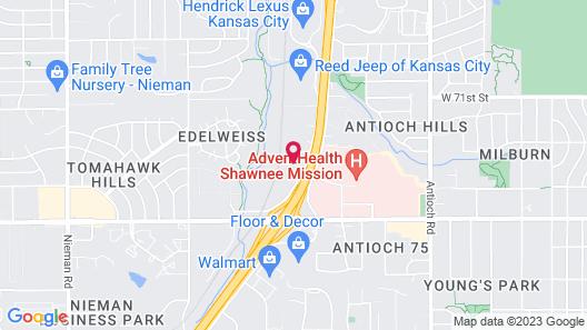 Hampton Inn & Suites Kansas City-Merriam Map