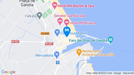 Hotel Biarritz Map