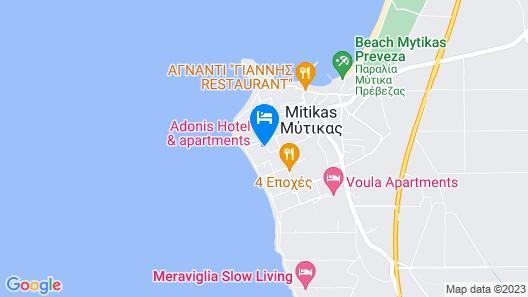 Adonis Hotel Map