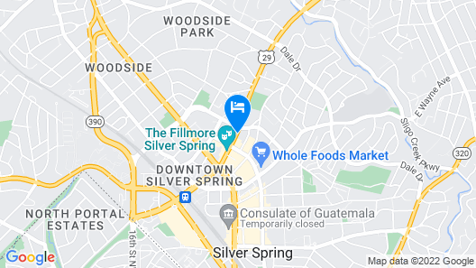 Homewood Suites by Hilton Silver Spring Washington DC Map