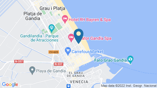 Hotel RH Riviera - Adults Only Map