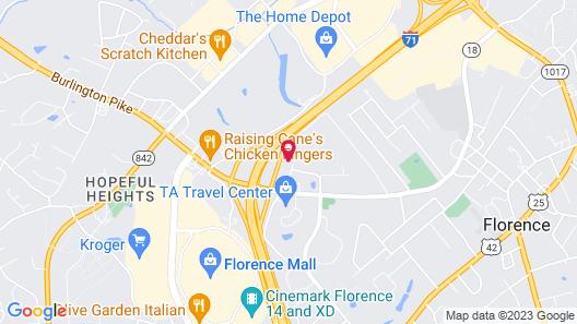 Motel 6 Florence, KY - Cincinnati Airport Map