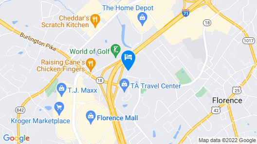 Americas Best Value Inn Florence Cincinnati Map