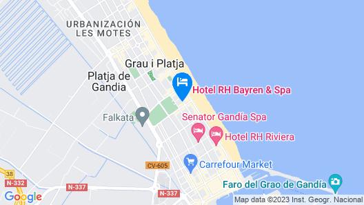 Hotel RH Bayren Parc Map