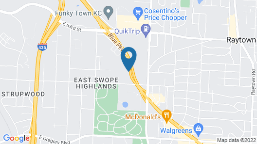 Holiday Inn Express Hotel & Stes Kansas City Sports Complex, an IHG Hotel Map