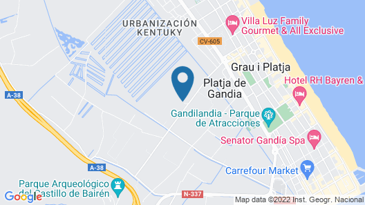 Kampea Playa de Gandia Map