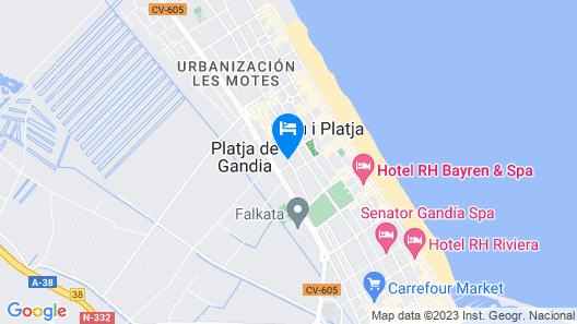 Apartamentos Jardines de Gandia I & II 3000 Map