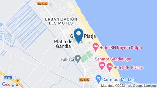 VS Gandía Palace Hotel  Map
