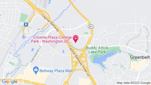 Crowne Plaza Greenbelt - Washington DC, an IHG Hotel Map