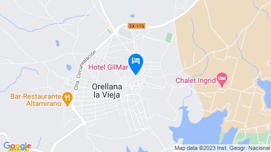 Hotel Rural Orellana Map