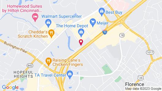Microtel Inn & Suites by Wyndham Florence/Cincinnati Airport Map