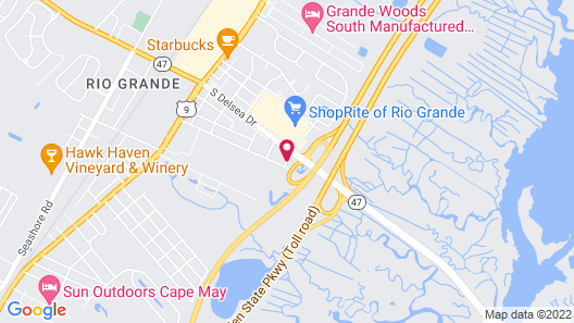 Red Roof Inn Wildwood – Cape May/Rio Grande Map