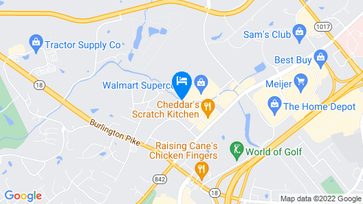 Homewood Suites Cincinnati Airport Map