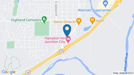 Hampton Inn Junction City Map