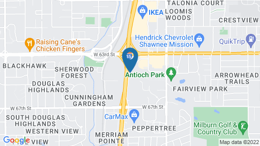 Extended Stay America - Kansas City - Shawnee Mission Map