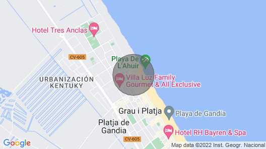 Piropo - Apartment With sea Views in Playa de Gandia Map